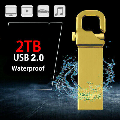 AU13.29 • Buy Metal USB 3.0 Flash Drive 2TB Memory Stick Pen Drive U Disk For PC Laptop Sliver