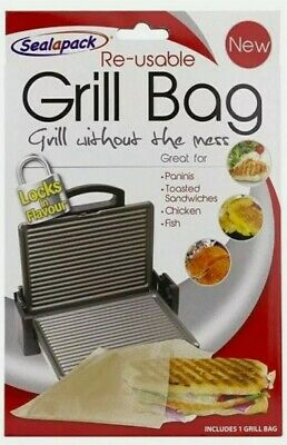 Sealapack Reusable Grill Bag NO MESS Paninis Toasted Sandwiches Meat Chicken  • 2.49£