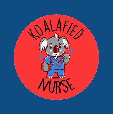 35x Cute Koalafied Nurse Doctor Brave 30mm Well Done Children's Stickers 293 • 2.25£
