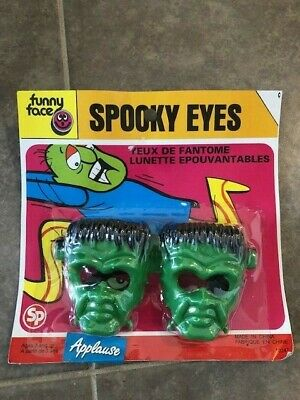 $ CDN25.95 • Buy Vintage Spooky Eyes Frankenstein Head Halloween Plastic Glasses Sealed