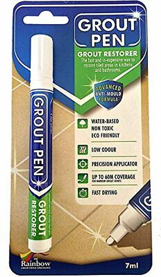 Grout Pen White - Ideal To Restore The Look Of Tile Grout Lines • 13.31£