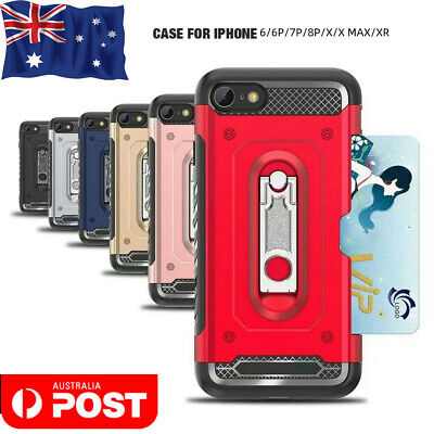 AU8.99 • Buy For Apple Iphone 6/7/8 X Case Cover With Card& Screen Protector Buy One Get Two