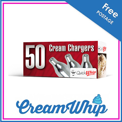 AU299.95 • Buy 600 Cream Chargers QuickWhip- 50 PACK X 12 8g Pure Nitrous Oxide N2O