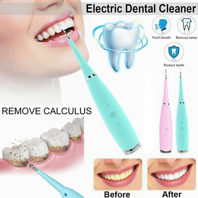 Electric Sonic Dental Scaler Plaque Tartar Calculus Tooth Stains Remover Tool# • 9.99£