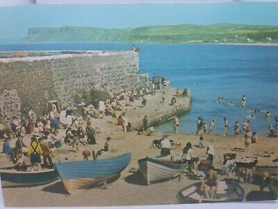 Vintage Postcard Ballycastle Co Antrim Children Playing In Boats The Pier 1970s • 4.75£