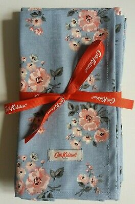 £17.95 • Buy Cath Kidston Set Of 4 Napkns Grove Bunch Gry Blue