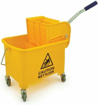 £19.49 • Buy 20 L Mop Bucket And Wringer Yellow Cleaning Mopping Commercial  UK