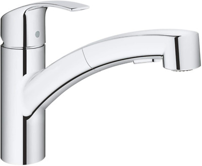 GROHE 30305000 Eurosmart Pull-Out Single-Lever Kitchen Tap, Chrome • 109.99£