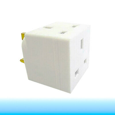 2 Way 3 Pin Plug Adaptor Converter Double CE Approved UK Double Mains Socket 13A • 2.55£
