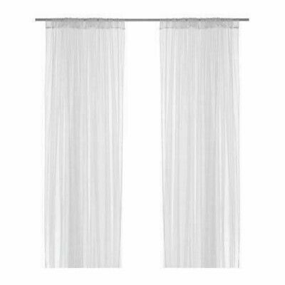 AU23.80 • Buy New Ikea Lill 1 Pair Of Sheer Lace Curtains White (netted)