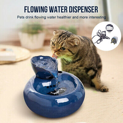 Pet Drinking Fountain Automatic Circulating Water Dispenser Cat Dog Drinker • 19.19£