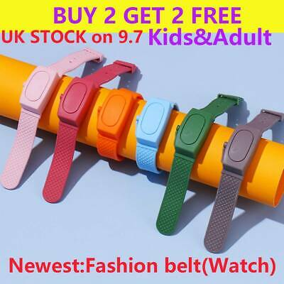 Hand Cleaning Gel Refillable Wristband Dispenser Squeezes Soap Bracelet UK Wor • 3.99£