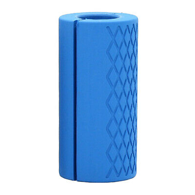 AU14.39 • Buy Thick Fat Barbell Silicone Grips Gym Arm Wrap Bar Dumbbell Grip For Weight Blue