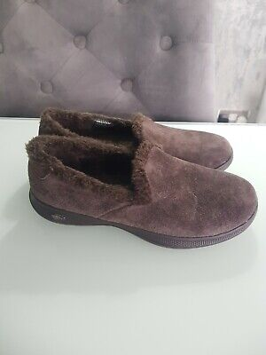 LADIES SKECHERS GO WALK GOGA MAX FLEECE LIGHTWEIGHT SLIPPERS Uk3 • 20£