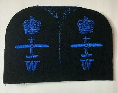 WRNS Womens Royal Naval Service Aircraft Weapons Cloth Badge Patch Uncut Pair • 16.05£