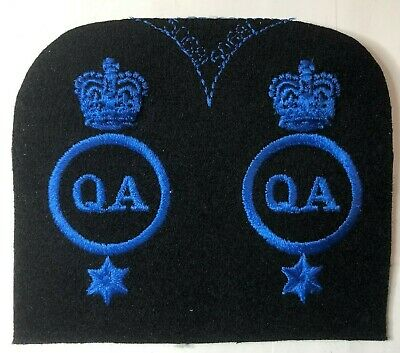 WRNS Womens Royal Naval Service Quarters Assistant  Badge Patch Uncut Pair • 12.84£