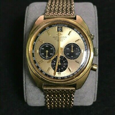 $ CDN672.28 • Buy Vintage Movado Datron MS 360 Swiss Chronograph Gold Electroplated Bezel Watch