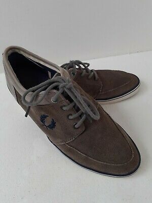 FRED PERRY Mens Grey Suede Trainer/shoe Size 9 • 14.99£