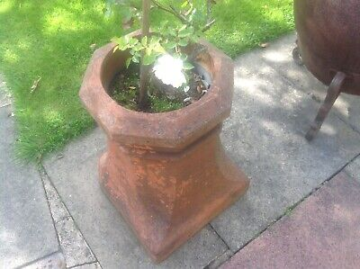 Antique Reclaimed Terracotta Clay Chimney Pot  Architectural Or Garden Use Large • 35£
