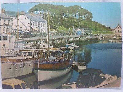 Vintage Postcard Boats In The Harbour At Carnlough Co Antrim 1970s Boat Hire Hut • 4.75£