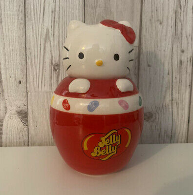 Official HELLO KITTY JELLY BELLY Ceramic Jelly Bean Sweetie Jar Cute Collectable • 12.95£