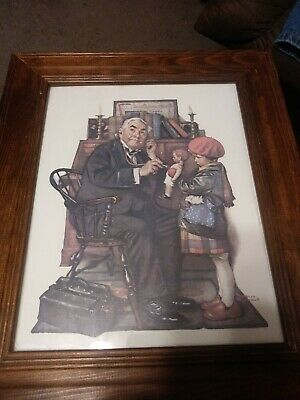 $ CDN65.45 • Buy Norman Rockwell Doctor And Doll - Limited Edition Lithograph On Paper