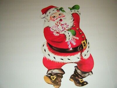 $ CDN18.10 • Buy Vintage Christmas Santa Claus Die Cut Candy Canes Classic Wall Decoration 15