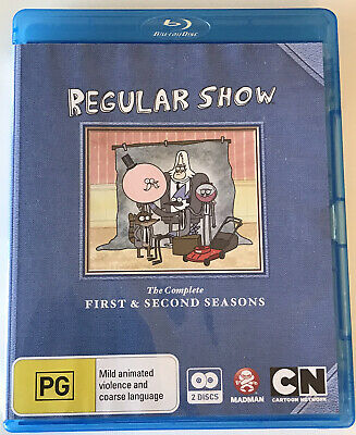 Regular Show : The Complete First & Second Series Blu Ray Region-free • 3.20£