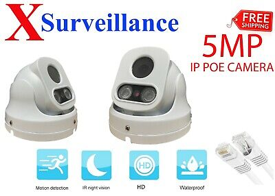 HD 5MP Wired PoE IP Camera Waterproof Outdoor IR Speed Dome LED CCTV Security • 44.99£