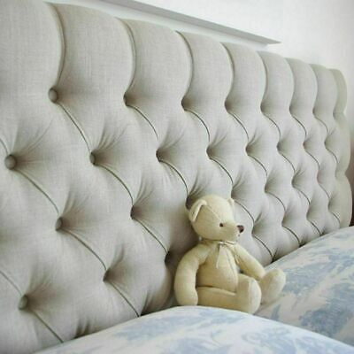 Beautiful Design Chesterfield Buttoned Headboard In Turin Fabric 20  OR 26  Tall • 49.95£