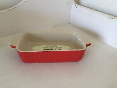 Le Creuset Red Kitchen Casserole Dish New RRP £29 Oven Microwave Freezer • 14.99£