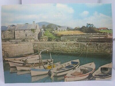 Vintage Postcard Annalong Co Down Boats In The Quay 1970s  • 4.95£