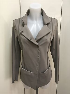 £75 • Buy New Annette Gortz Grey Stretch Fitted Tailored Jacket Size 10