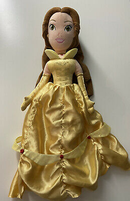 DISNEY STORE PRINCESS Beauty And The Beast / Belle 20  LARGE PLUSH SOFT DOLL TOY • 8£