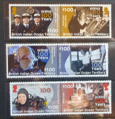 2018 BRITISH INDIAN OCEAN TERR. WRNS 100yrs SET 6 MINT STAMPS • 23.44£