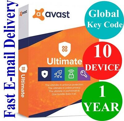 $ CDN66.49 • Buy Avast Ultimate 10 DEVICE / 1 Year (Unique Global Key Code) 2021