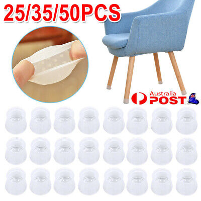 AU12.59 • Buy 25 /35/ 50X Table Chair Feet Cover Silicon Furniture Leg Pad Floor Protector Cap