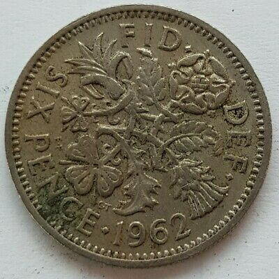 £2.25 • Buy Old Coin 1962 Lucky Sixpence British
