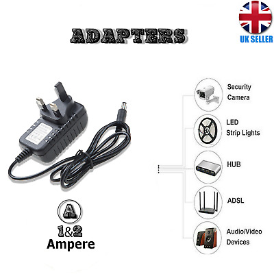 12V 1.5A-3A AC/DC Power Supply Adapter Safety Charger For LED Strip CCTV Camera • 7.98£