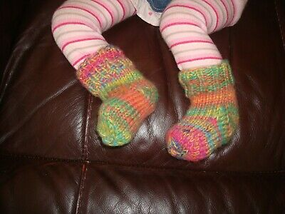 Hand Knitted Baby Socks 0 - 3 Months  • 3£
