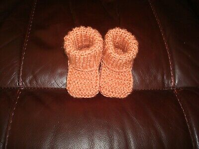 Hand Knitted Baby Booties  3- 6 Months • 3.50£
