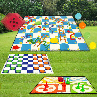 Draughts / Snakes And Ladders / Ludo / Drafts Giant Garden Games Sets Outdoor • 5.25£