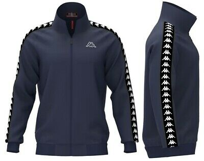 Kappa Mens Track Top Retro Anniston Tracksuit Jacket Black Navy Size S,M,L NEW • 24.95£