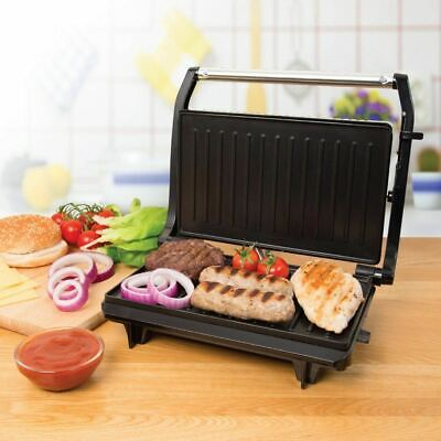 Compact 2 Slice Electric Panini Press Grill 700w Non Stick With Floating Hinge • 18.99£