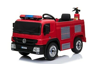 £199.99 • Buy 12v Fire Engine Truck Kids Electric Ride On Car With Parental Remote Control