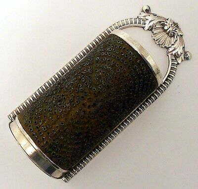 A Fine 17th C Form Sterling Silver Nutmeg Grater, John Robins, London 1814. • 1,425.54£