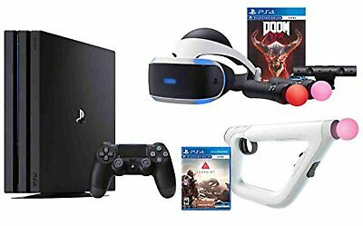 AU1472.16 • Buy PS4 Shooter Bundle PlayStation 4 Pro 1TB Console VR Headset Farpoint Aim Video