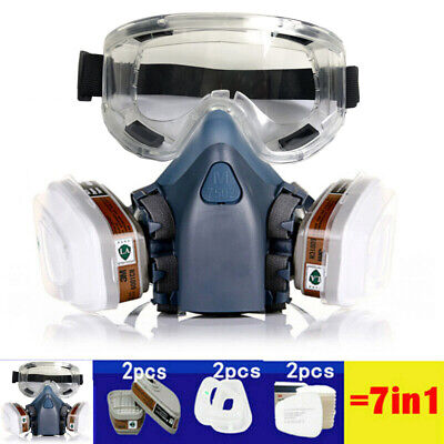 AU25.49 • Buy 7502+Goggles 7 In 1 Suit Full Face Respirator Painting Spraying Safety Gas Mask