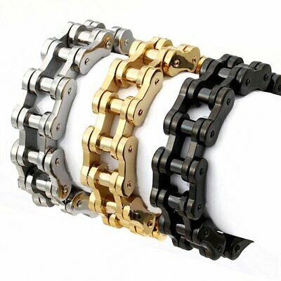 19mm Men's Stainless Steel Motorcycle Link Chain Biker Wrist Bracelet 9 Inch • 16.79£
