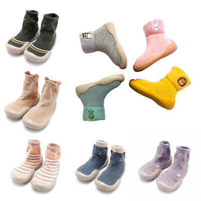 Spring Autumn Infants Toddlers Non-slip Flat Floor Slipper Socks Shoes Booties • 12.60£